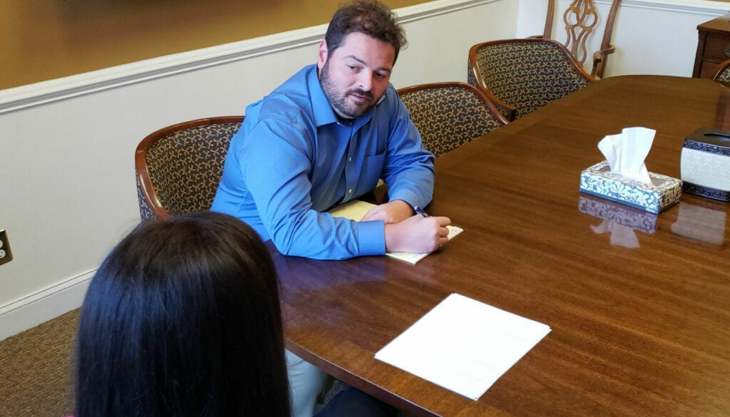Example of an attorney needs to be present at Initial sign-up with Stein Whatley